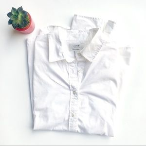 J Crew Stretch Perfect white button down
